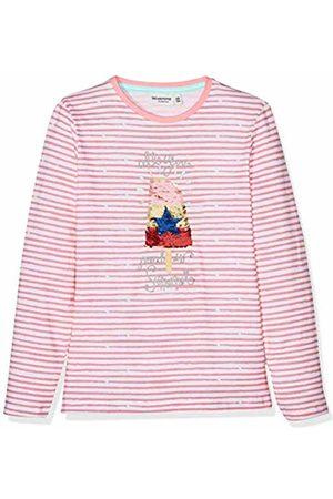 Salt & Pepper Salt and Pepper Girls' Longsleeve Sunshine Stripe Wende T-Shirt, (Flamingo 840)