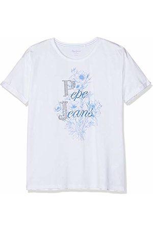 Pepe Jeans Girl's Dana T-Shirt, (Optic 802)
