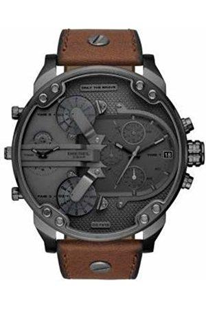 Diesel Mr. Daddy 2.0 Quartz Anthracite Leather Men's Watch DZ7413