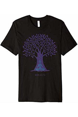 Namaste Tree Yoga Shirt Yoga Namaste Tree Pose Zen T-shirt