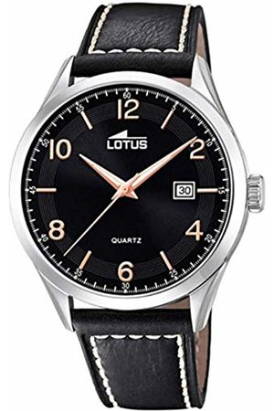 Lotus Mens Analogue Quartz Watch with Leather Strap 18634/4