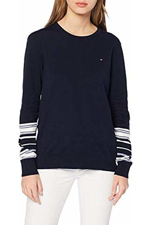 Tommy Hilfiger Women's New TALY C-NK SWTR Jumper, Blau (Sky Captain/Snow Multi 904)