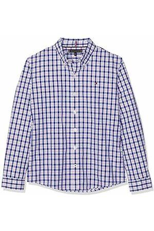 Tommy Hilfiger Boy's Dobby Check Shirt L/s Blouse ( Iris 002) 104 (Size: 4)