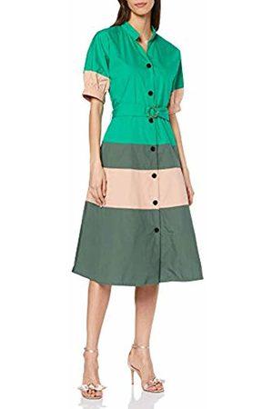 Noa Noa Women's's Organic Colour Block Poplin Dress