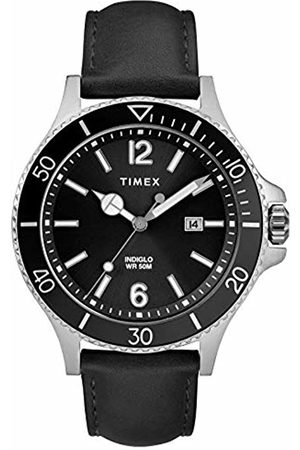 Timex Mens Analogue Classic Quartz Watch with Leather Strap TW2R64400