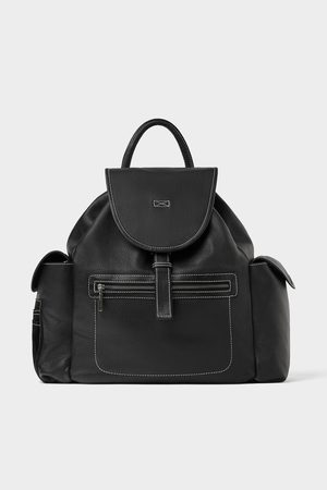 Zara LEATHER BACKPACK