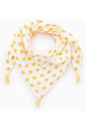 Zara Baby Scarves - Triangle polka dot scarf