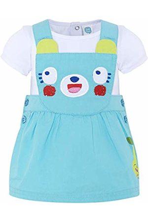 Tuc Tuc Baby Girls' Pichi Popelín+Camiseta Punto Niña Smoothies Dungarees (Azul 16) 28 (Size: 1M)
