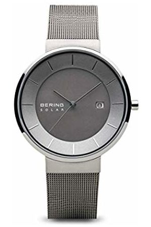 Bering Mens Analogue Solar Powered Watch with Stainless Steel Strap 14639-309