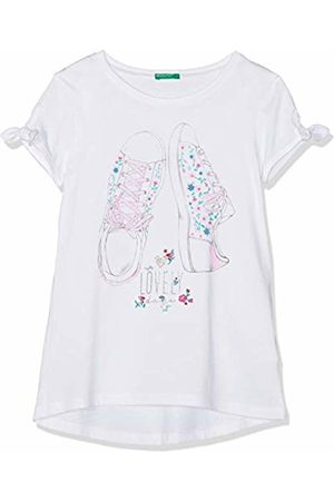 Benetton Girl's T-Shirt Kniited Tank Top (Bianco 101)