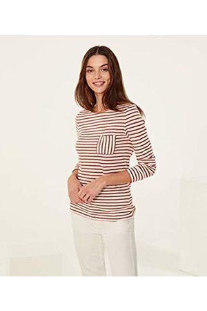 Petit Bateau Women's tee ML_4905401 Longsleeve T - Shirt Mehrfarbig (Marshmallow/Copper 01) 36 (Size: XS14 XS14ANS)