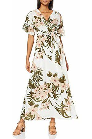 Mela Women's Tropical Pastel Print Dress, (Cream 19)