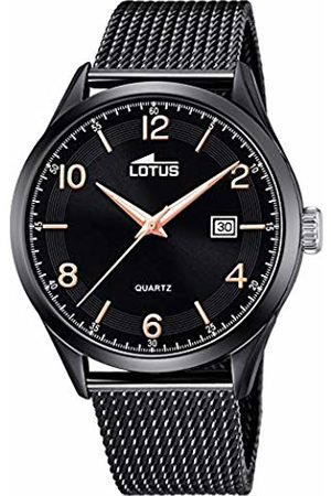 Lotus Mens Analogue Quartz Watch with Stainless Steel Strap 18633/1