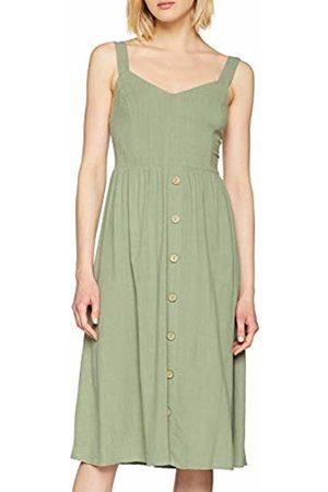 New Look Women's F Bermuda Button Front Dress (Dark Khaki 34)