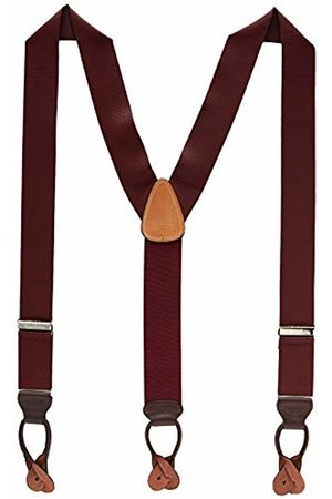 Brooks Brothers Men Braces - Men's's Bretelle Braces, (Dark 605)