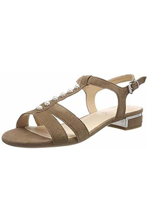 Caprice Women's's Ariane Ankle Strap Sandals (Taupe Suede 343) 8 UK