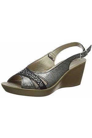 Inblu Women's Danza Ankle Strap Sandals, (Nero 014)