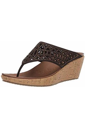 Skechers Women's Beverlee-Summer Visit Open Toe Sandals, Chocolate