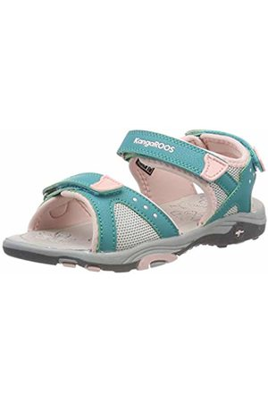 KangaROOS Kids' K-Belle Closed Toe Sandals Blau (Turquoise/English Rose 4402) 5 UK