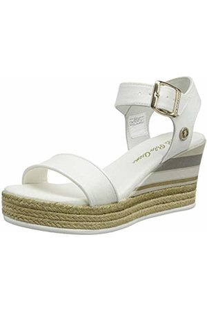 U.S. Polo Assn. U.S. Polo Assn. Women's's Niva4 Canvas Ankle Strap Sandals (Bianco 001) 6.5 UK