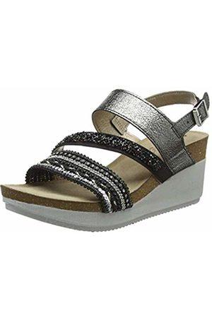 Inblu Women's Ente Ankle Strap Sandals, (Nero 014)