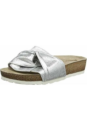 Inblu Women's Niki Micro Flip Flops, (Argento 018)