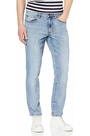Izod Men's Saltwater Denim Bleach Straight Jeans