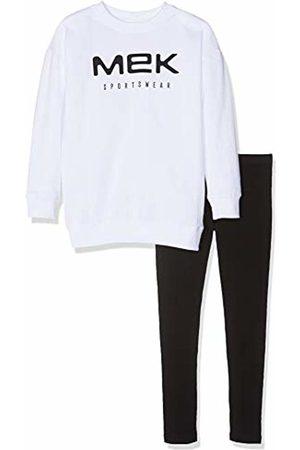 MEK Girl's Completo Top Felpina Girocollo Con Leggings Logo Clothing Set