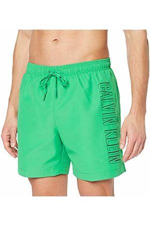 Calvin Klein Men Swim Shorts - Men's's Medium Drawstring Swim Trunks Bright 321