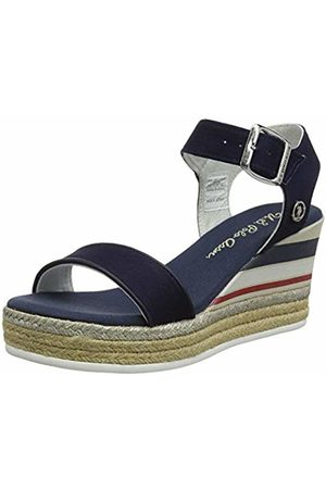 U.S. Polo Assn. U.S. Polo Assn. Women's's Niva4 Canvas Ankle Strap Sandals (Blu Scuro 002) 3.5 UK