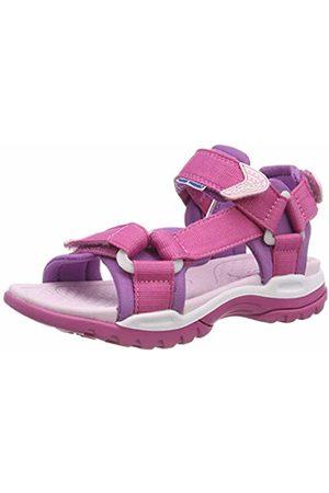 Geox J Borealis A, Girls' Wedge Heels Sandals Open Toe Sandals