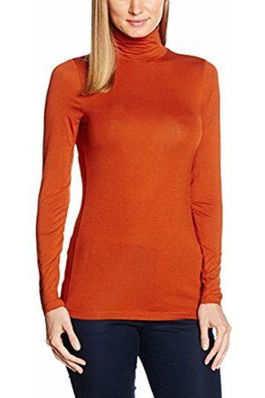 Tom Tailor Women's turtle neck basic shirt T-Shirt, (burn umber )