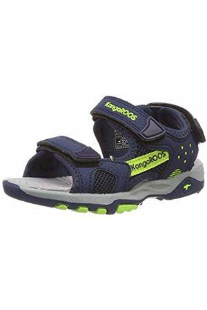 KangaROOS Kids' K-Celtic Closed Toe Sandals Blau (Dk Navy/Lime 4054) 12.5 UK