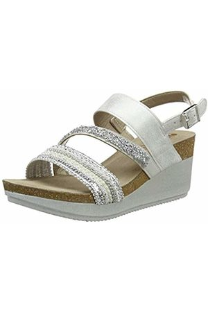 Inblu Women's Ente Ankle Strap Sandals Bianco 001
