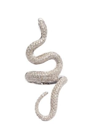 Lynn Ban Diamond & Sterling- Snake Ring - Womens