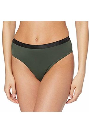 Pour Moi Women's Amnesia High Leg Brief Bikini Bottoms, Khaki