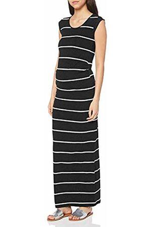 Mamalicious NOS Women's Mlally S/s Jersey Maxi Dress A. O. Noos (Dark Melange Stripes:Snow ) 12 (Size: Medium)