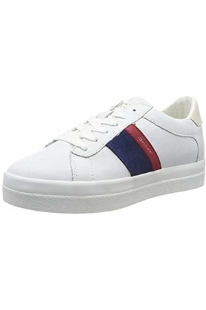 GANT Footwear Women's Aurora Low-Top Sneakers (Br.Wht/Ind. / G282) 4 UK