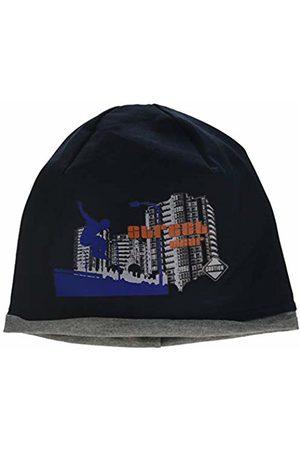 maximo Boy's Beanie Jersey, Rollrand, Bügelmotiv Hat