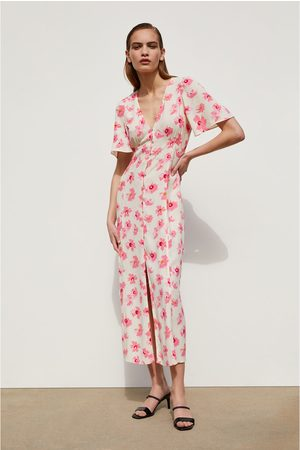 c3a0aa44425 Zara floral-crossover women's dresses, compare prices and buy online