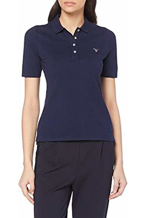 GANT Women's The The Original Pique Lss Polo Shirt, (Evening 433)