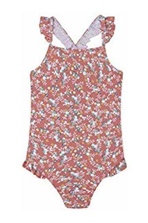 Gocco Girl's Traje de Baño Flores Swimsuit (Coral Pd) 128