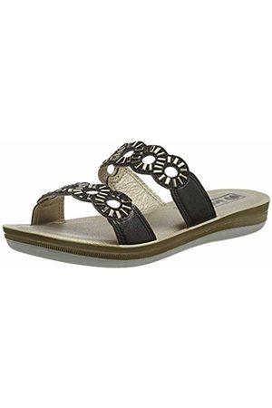 Inblu Women's Bianca Flip Flops, (Nero 014)