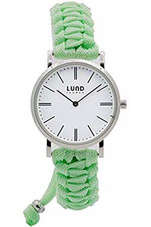 Lund London Unisex Adult Analogue Classic Quartz Watch with Textile Strap 9034
