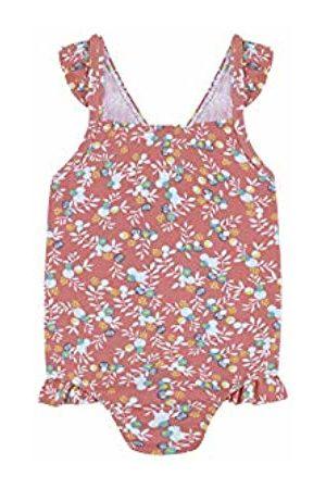 Gocco Baby Girls' Traje DE BAÑO Flores Swimsuit (Coral Pd) 92