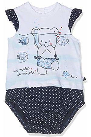 chicco Baby Girls' Pagliaccetto Manica Corta Romper (Bianco E Blu 038) 74 (Size: 074)