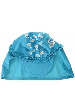 Playshoes Baby Girls' Uv-Schutz Bademütze Schwäne Hat Turquoise (Türkis 15) 49 (Size: 49centimeters)
