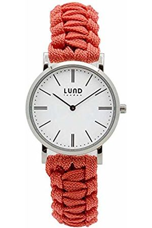 Lund London Watches - Unisex Adult Analogue Classic Quartz Watch with Textile Strap 9004