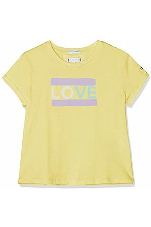 Tommy Hilfiger Girl's Painted Love Tee S/s T-Shirt (Lemonade 722) 98 (Size: 3)