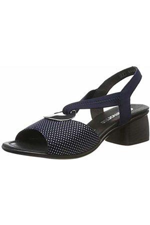 Remonte Women's R8751 Sling Back Sandals (Navy/Silber 14) 6 UK